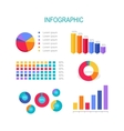 Business Education Infographic Bar Column Graphs vector image