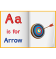 A picture of an arrow in a book vector image vector image