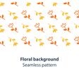 Orange and yellow flowers fancy backdrop pattern vector image