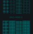 stylish seamless pattern set decorative line tile vector image