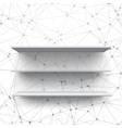 Realistic Shelf Shelf on Wall vector image