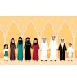 Arabian Family People Design Flat vector image