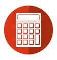 calculator math school shadow vector image