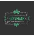Go vegan Organic food engraved icon vector image