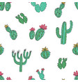 natural seamless pattern with hand drawn green vector image