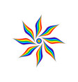 rainbow flower sign 1004 vector image