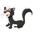 skunk cartoon posing vector image