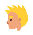 smiling blond man character face icon vector image