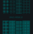 stylish seamless pattern set decorative line tile vector image