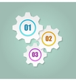 Gears with numbers vector image