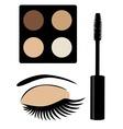 eye mascara brown vector image