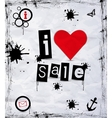 I love sale vector image vector image