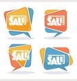 sale bubbles vector image