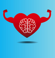 brain and heart concept getting healthy vector image