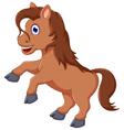 cute horse cartoon running vector image