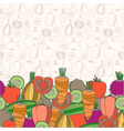 Decorative vegetables background vector image