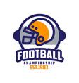football championship est 1983 logo design vector image