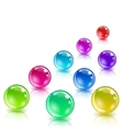 Glossy colored balls with reflection vector image
