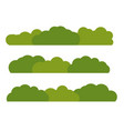 green bush landscape flat icon isolated on white vector image