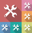 Icon of Wrench Flat style Long shadow vector image
