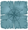 Old damaged sheet of paper with compass rose vector image vector image