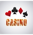 poker cards game casino vector image