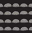 Monochrome minimalistic seamless pattern with arcs vector image