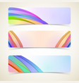 Abstract design horizontal banners set vector image