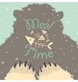 Bear meal time vector image