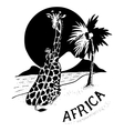 African Landscape and animals vector image