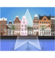 Background with blur Amsterdam vector image vector image