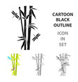 bamboo icon in cartoon style isolated on white vector image