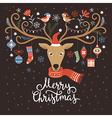 Christmas card Christmas deer vector image