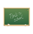 green chalkboard Back to school vector image