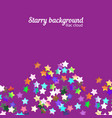 holographic stars background vector image