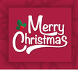 Merry Christmas and Happy new year text free hand vector image