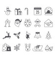 merry christmas icon collection vector image