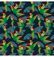 Parrots in the jungle seamless tropical vector image