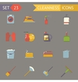 Retro Household Cleaning Symbols Accessories Icons vector image