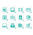 stylized media and information icons vector image
