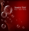 transparent bubble red background vector image