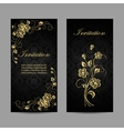 Set of invitation cards design vector image