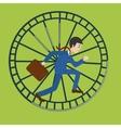 Businessman in hamster wheel cartoon vector image