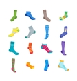 Colorful Fun Socks Set vector image