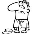 sad man on valentines day cartoon vector image vector image