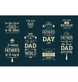 Happy Father s Day Design Collection In Retro vector image