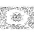 hand drawn seafood restaurant menu vector image vector image