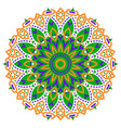color mandala ethnic pattern round symmetrical vector image