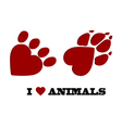 Animal love vector image vector image