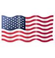 usa american flag waving vector image